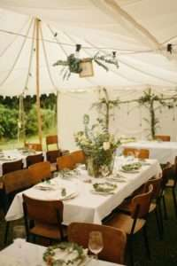 Bring an outside wedding indoors