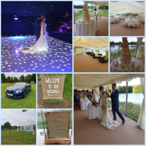 A lakeside marquee wedding - Nicola and Joe
