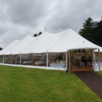 A marquee wedding on the lake