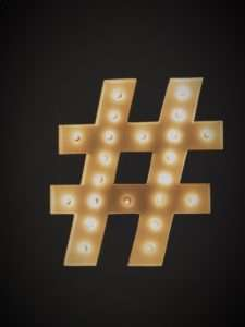 How to use your Wedding Day hashtag
